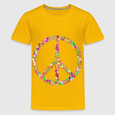 Colorful Circles Peace Sign 8 - Kids' Premium T-Shirt