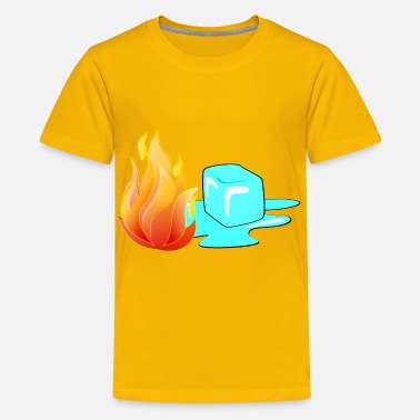 Fire And Ice Fire and Ice - Kids' Premium T-Shirt