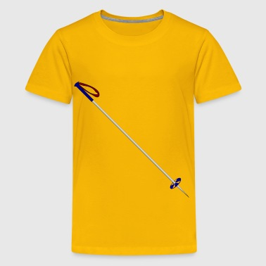 Working The Pole Ski Pole - Kids' Premium T-Shirt