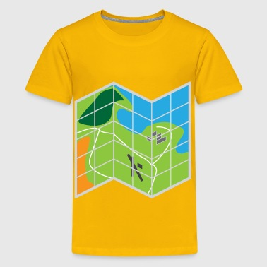 Folded Map - Kids' Premium T-Shirt