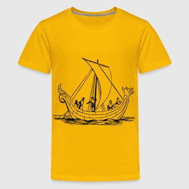 Saxon ship - Kids' Premium T-Shirt