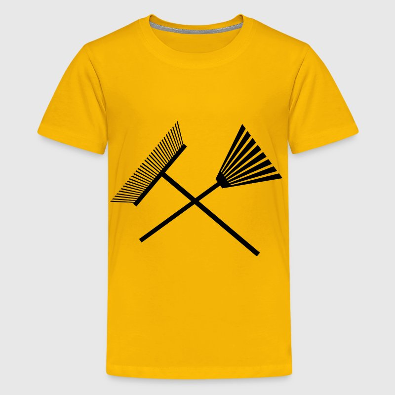 Crossed Rakes - Kids' Premium T-Shirt