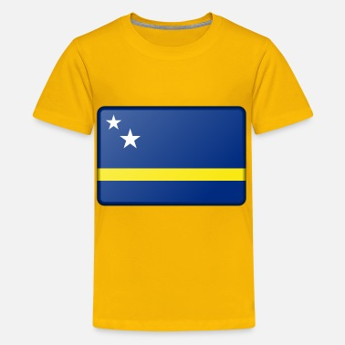 Curacao Flag Flag of Curacao (bevelled) - Kids' Premium T-Shirt