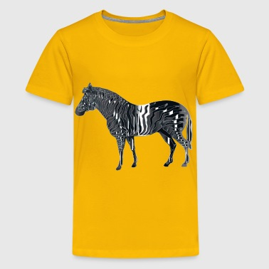 Polished Onyx Zebra - Kids' Premium T-Shirt