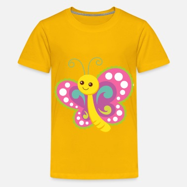 Cute Cartoon Butterfly - Kids' Premium T-Shirt