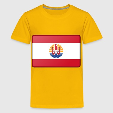 Flag of French Polynesia (bevelled) - Kids' Premium T-Shirt