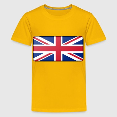 Flag of United Kingdom (bevelled) - Kids' Premium T-Shirt