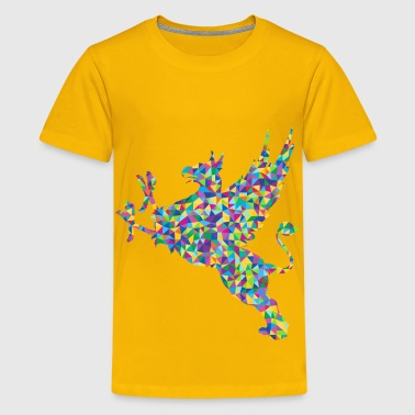 Low Poly Prismatic Vintage Griffin Silhouette - Kids' Premium T-Shirt