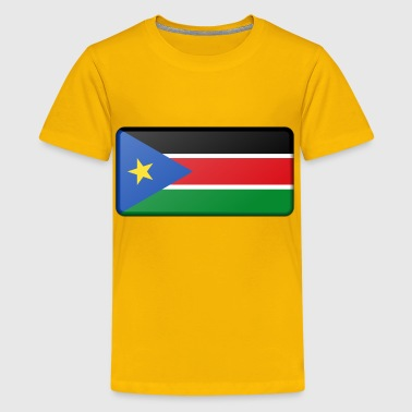Flag of South Sudan (bevelled) - Kids' Premium T-Shirt