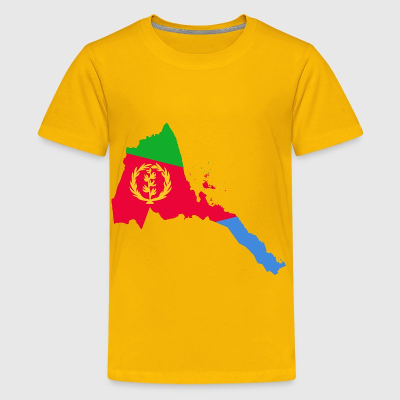 Eritrea Flag Map - Kids' Premium T-Shirt