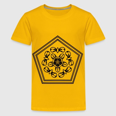 Pentagonal ornament - Kids' Premium T-Shirt