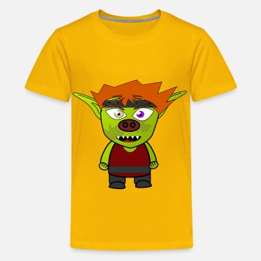 Sprite Chibi Goblin Fighter - Kids' Premium T-Shirt
