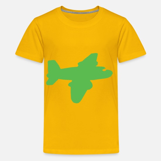 Airplane T-Shirts - Airplane - Kids' Premium T-Shirt sun yellow