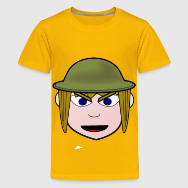 Angry Soldier Girl - Kids' Premium T-Shirt