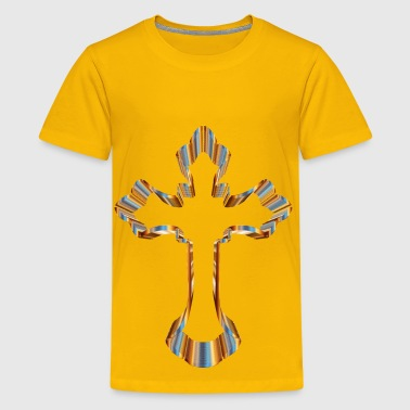 Chromatic Ornate Cross No Background - Kids' Premium T-Shirt