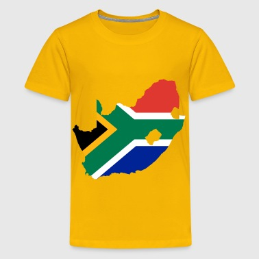 South Africa Flag Map - Kids' Premium T-Shirt