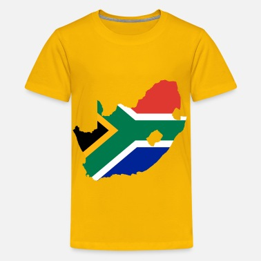 South Africa Flag South Africa Flag Map - Kids' Premium T-Shirt