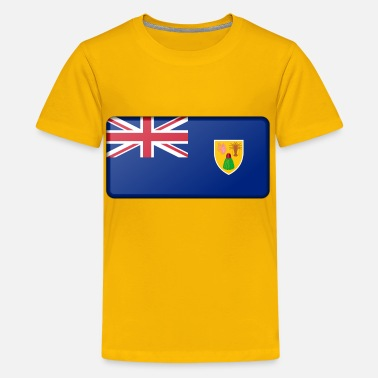 Turk Flag of the Turks and Caicos Islands (bevelled) - Kids' Premium T-Shirt