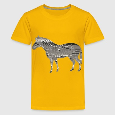 Chrome Zebra - Kids' Premium T-Shirt