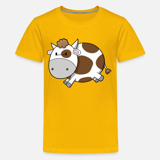 Babyproducts T-Shirts - cute cow - Kids' Premium T-Shirt sun yellow