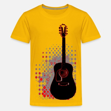 Guitar Shape Guitar - Kids' Premium T-Shirt