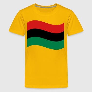 African Medallion Hip Hop Red, Black & Green Flag - Kids' Premium T-Shirt
