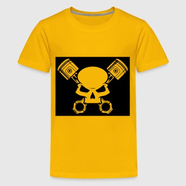 Skull and Pistons - Kids' Premium T-Shirt