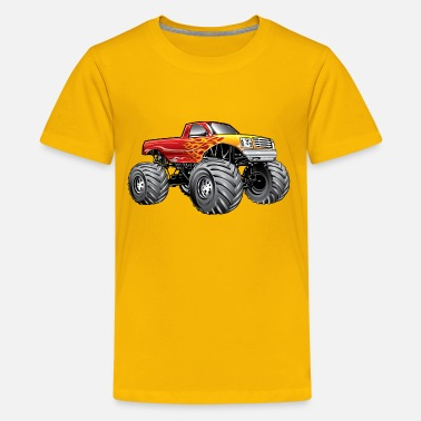 Monster Truck Blazing Hot Monster Truck - Kids' Premium T-Shirt