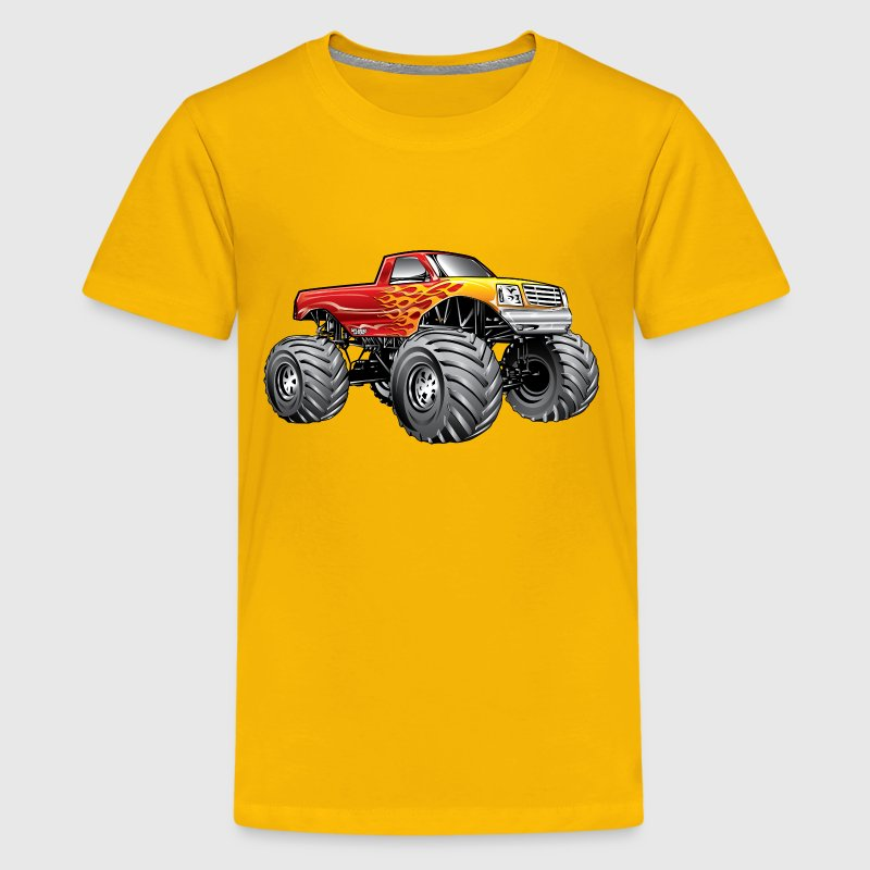 Blazing Hot Monster Truck - Kids' Premium T-Shirt