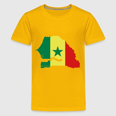Senegal Flag Map - Kids' Premium T-Shirt