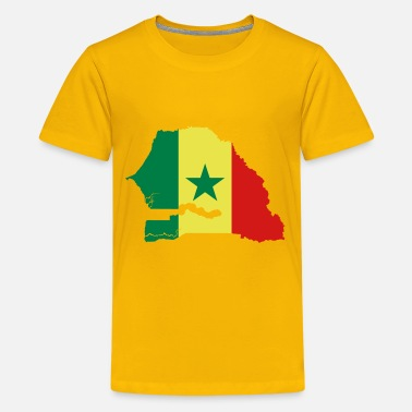 Senegal Senegal Flag Map - Kids' Premium T-Shirt