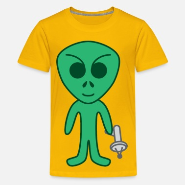 Cartoon Alien Cartoon alien - Kids' Premium T-Shirt