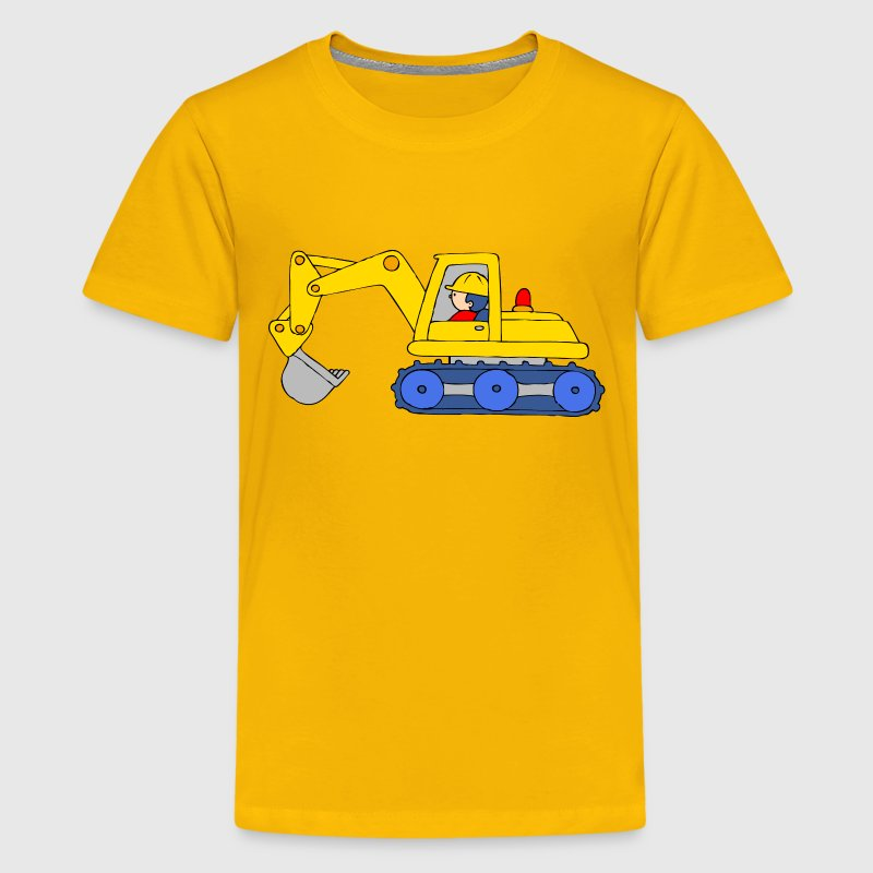 Backhoe Loader - Kids' Premium T-Shirt