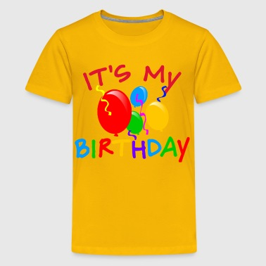 It's My Birthday Balloons - Kids' Premium T-Shirt