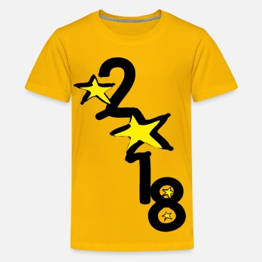 Posters New Year 2018 star ss - Kids' Premium T-Shirt