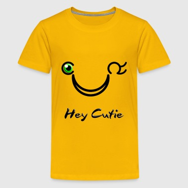Hey Cutie Green Eye Wink - Kids' Premium T-Shirt