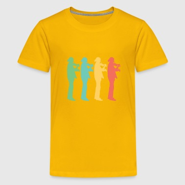 Retro Violin Pop Art - Kids' Premium T-Shirt