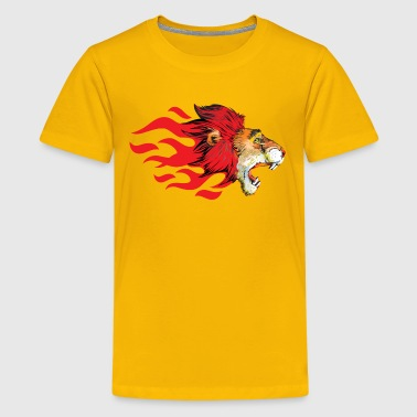 León Lion - Cat - Big Cat - Zoo - Wildlife - Sports - Kids' Premium T-Shirt