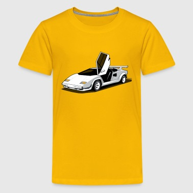 Lambo LP500 S Art (White) - Kids' Premium T-Shirt