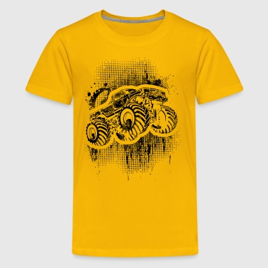 Monster Truck Grungy blk - Kids' Premium T-Shirt