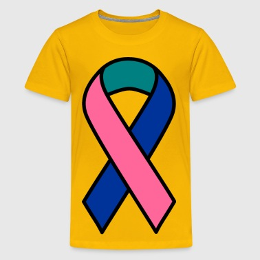 Thyroid Cancer Ribbon - Kids' Premium T-Shirt