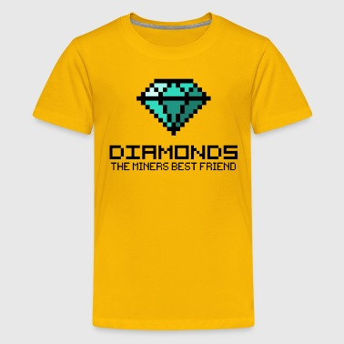 Diamonds are the miners best friend 2 (dd print) - Kids' Premium T-Shirt