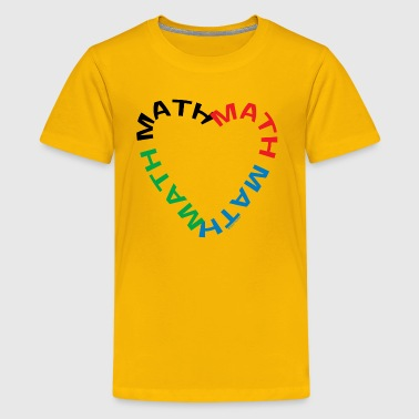 Math Text Heart   - Kids' Premium T-Shirt