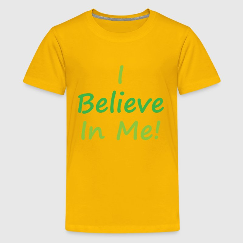 I believe in me - green - Kids' Premium T-Shirt