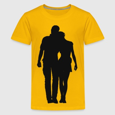 Couple Silhouette 2 - Kids' Premium T-Shirt