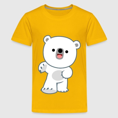 Cute Happy Polar Bear Cub by Cheerful Madness!! - Kids' Premium T-Shirt