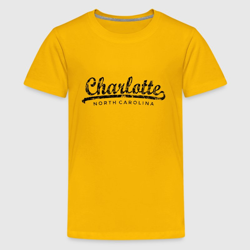 Charlotte, North Carolina Classic Vintage Black - Kids' Premium T-Shirt