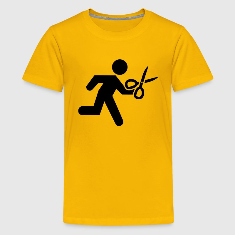 Running with Scissors - Kids' Premium T-Shirt