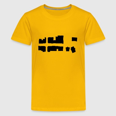 City Map City Silhouette Map - Kids' Premium T-Shirt