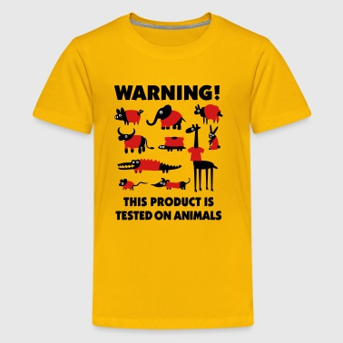 Warning! This product is tested on animals 3clr - Kids' Premium T-Shirt